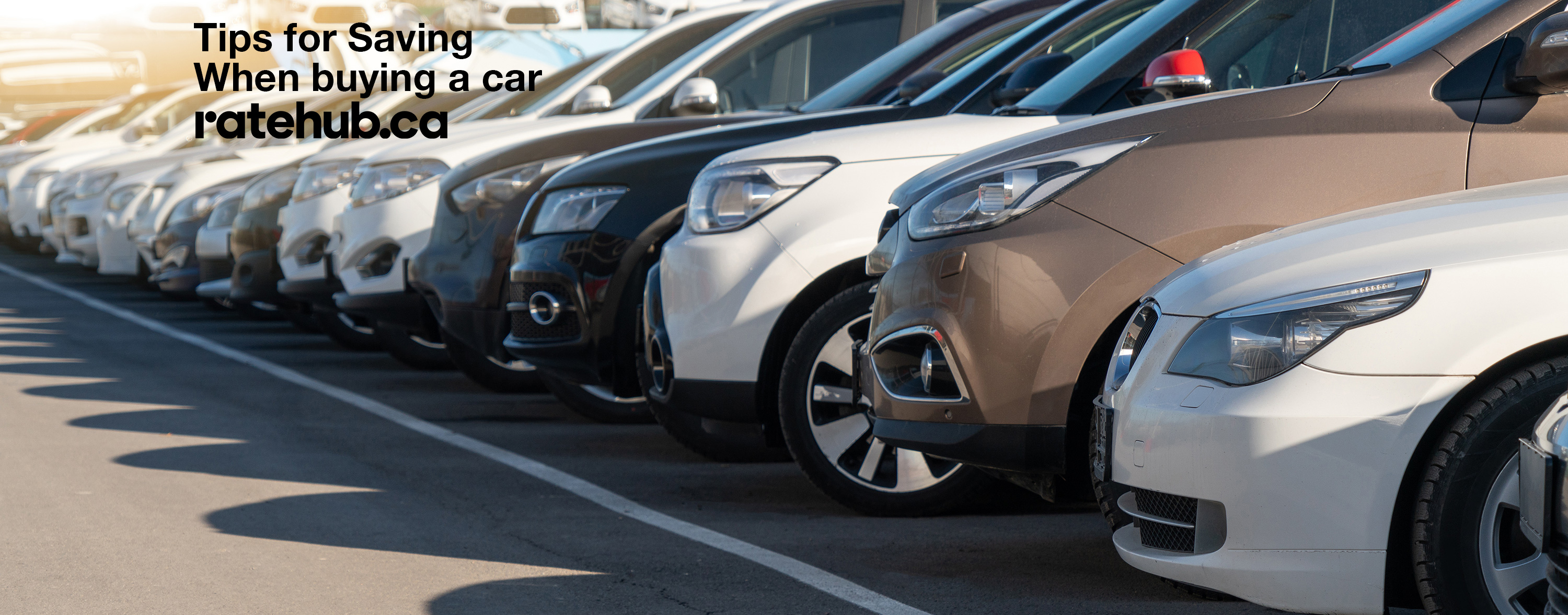 Tips for saving when buying a car