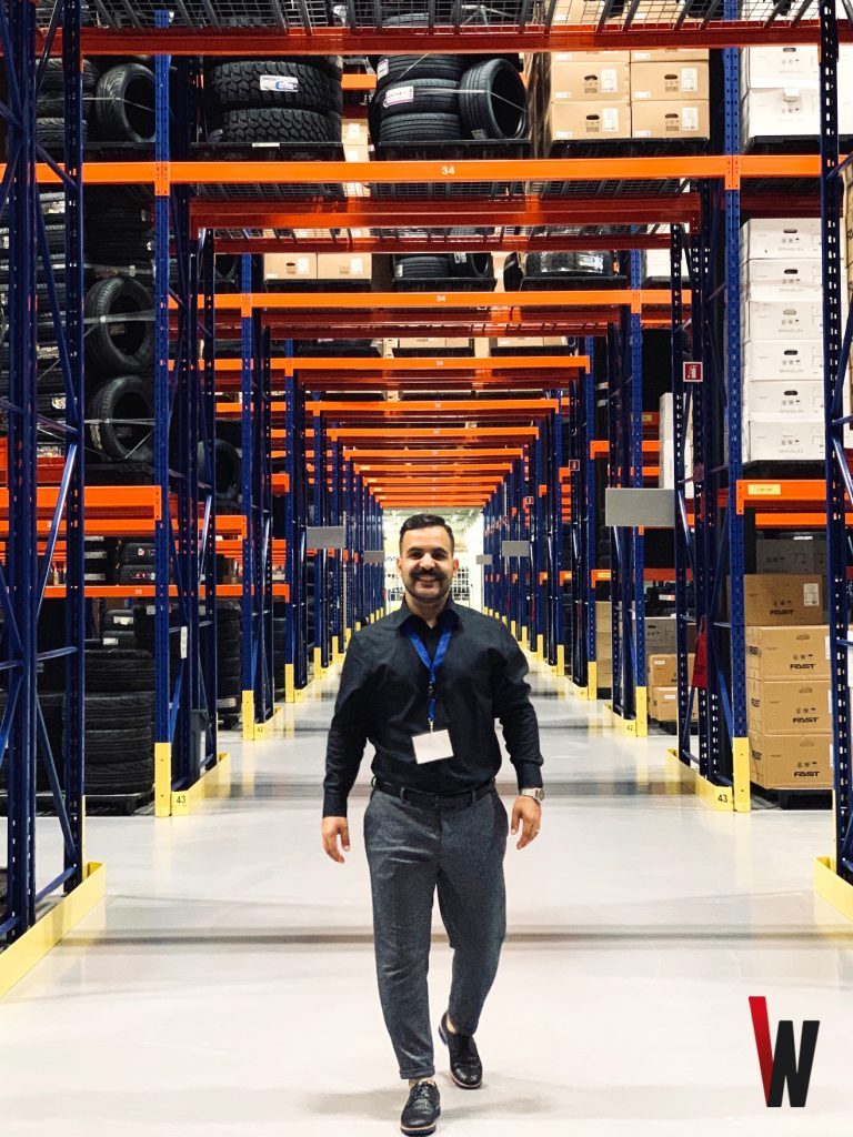 This is an image of Founder and CEO of CanadaWheels, Saleh Taebi, at the Fastco Canada Inc.