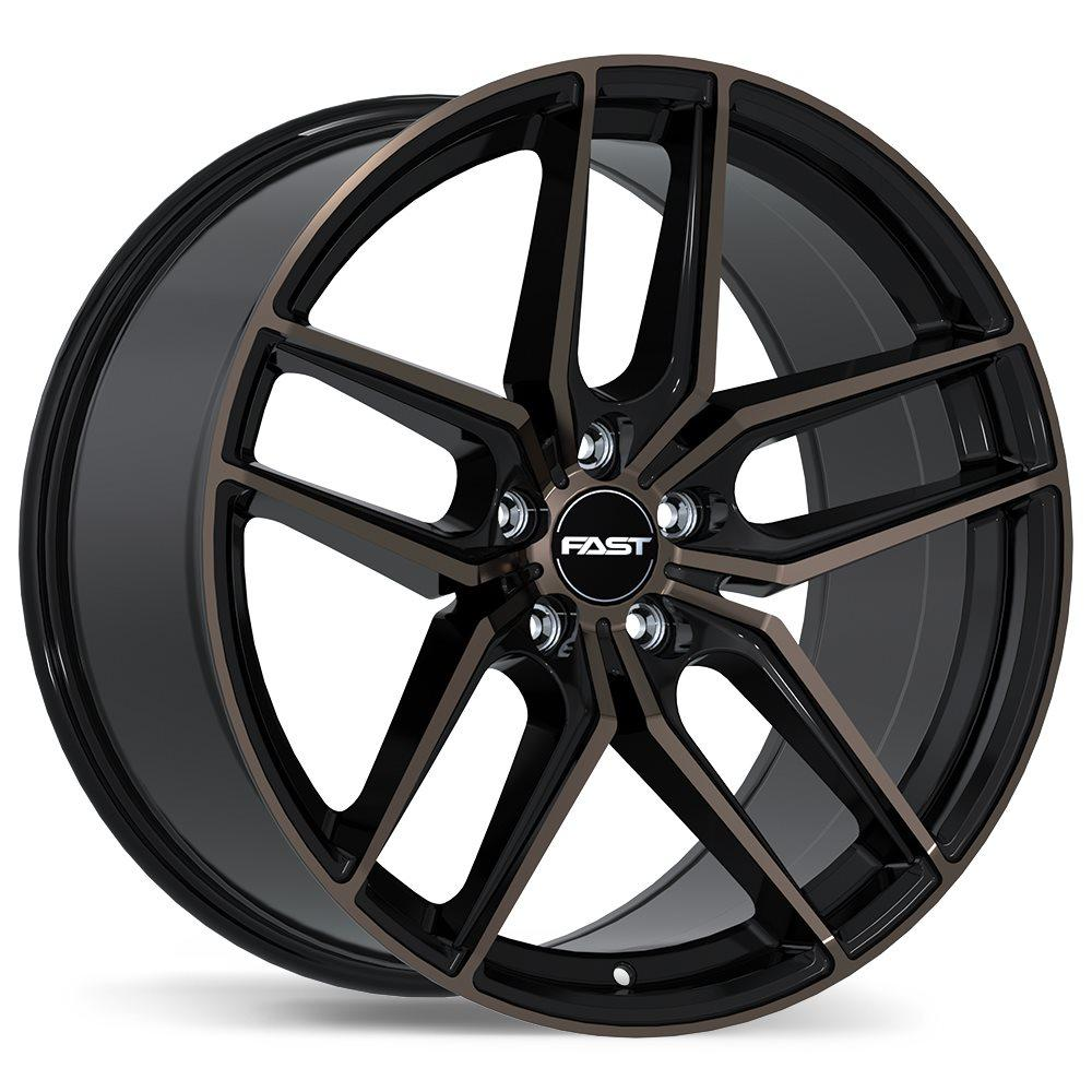 Fast Wheels Aristo  Gloss Black with Machined Face and Smoked Clear