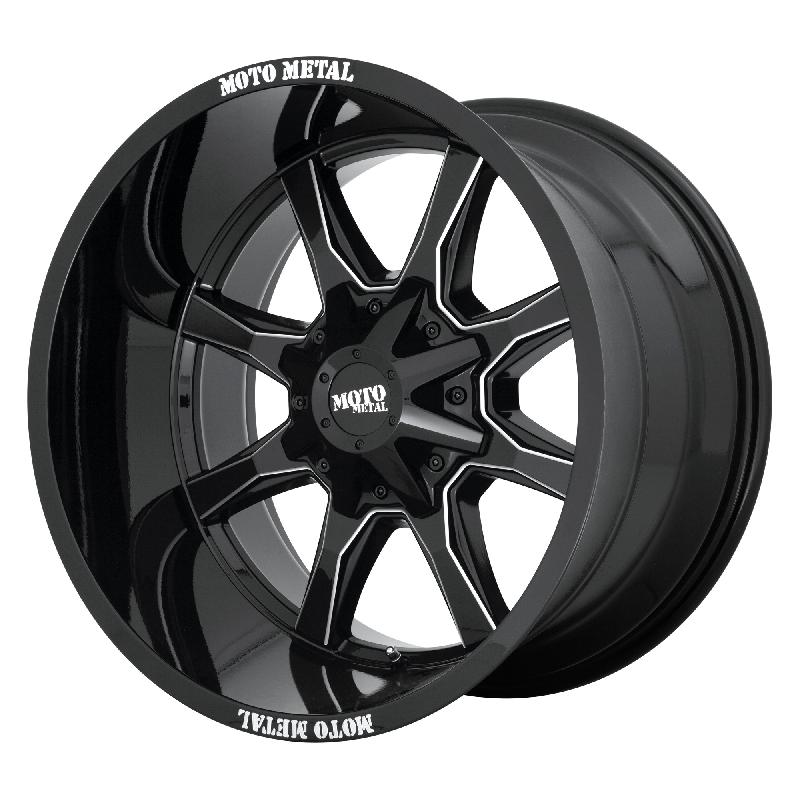 Moto Metal MO970 Machined Black 18x10 8x170-24mm MO97081087324N